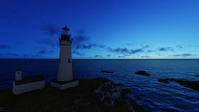 Seascape at sunset. Lighthouse on the coast. 3d rendering Seascape at sunset. Lighthouse on the coast 4 royalty free illustration