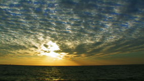 Seascape At Sunset stock video footage