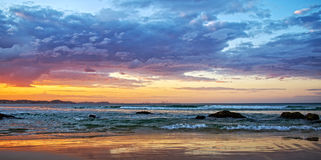 Seascape at sunset Stock Photography