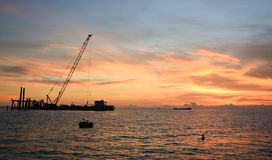 Seascape at sunset in Phu Quoc, Vietnam Stock Image