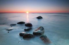 Seascape Sunset Royalty Free Stock Photography