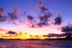 Seascape with sunset Stock Photography