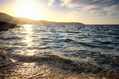 Seascape from Corfu island, Greece stock image