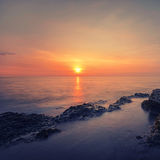 Seascape at sunset in Thailand Royalty Free Stock Image