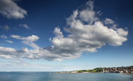 Seascape of swanage bay Royalty Free Stock Photography