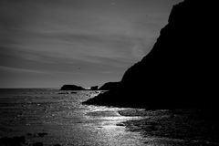 Seascape sylwetka Zdjęcie Stock