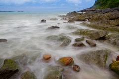Seascape in Thailand. Image shows a rocky and seascape in Rayong Thailand Royalty Free Stock Photography