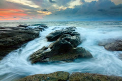 Seascape at the Tip of Borneo Royalty Free Stock Photos