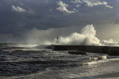 Seascape tormentoso antes da chuva Foto de Stock Royalty Free