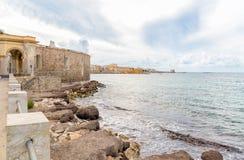 Seascape of Trapani, Italy Royalty Free Stock Photos
