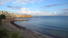Seascape of Trapani, Italy stock footage