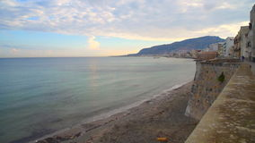 Seascape of Trapani, Italy stock video footage