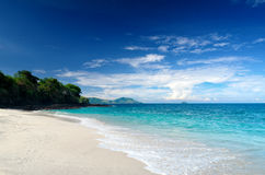 Tropical beach. Bali Island, Indonesia Stock Photos