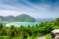 Tropical landscape. Phi-phi island, Thailand Royalty Free Stock Photography
