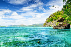 Tropical seashore. Palawan Island, Philippines Stock Photos