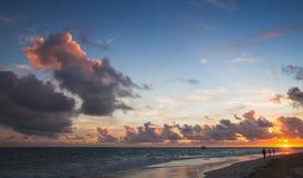 Seascape in tropical sunrise. Atlantic Ocean Stock Photography