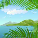 Seascape in the tropics Stock Photos