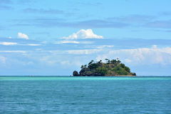 Seascape tropikalna daleka wyspa w Yasawa wysp grupie Fotografia Royalty Free