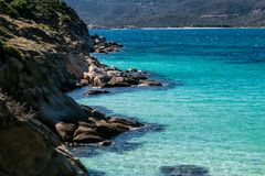 Seascape with turquoise sea stock image
