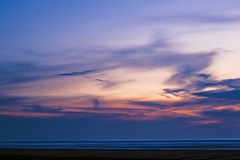 Seascape Twilight. Abstract of seascape and clouds royalty free stock photos