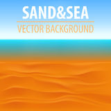 Seascape vector illustration. Paradise beach. Royalty Free Stock Images