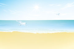 Seascape vector illustration. Paradise beach Stock Photography