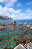 Seascape vermelho do trilho Foto de Stock