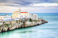 Seascape from Vieste. (FG) - italy, HDR version stock images