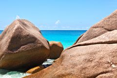 Seascape view. Seychelles, LaDigue island Stock Images