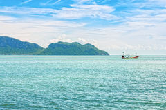 The seascape view of Ao Manao bay at Prachuap Khiri Khan Royalty Free Stock Image