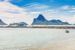 The seascape view of Ao Manao bay at Prachuap Khiri Khan Stock Photography