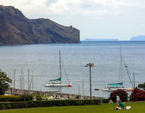 Seascape. View of the bay from the shore. Island Madeira Royalty Free Stock Photography