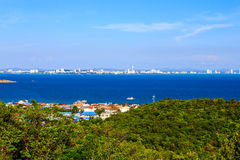 Seascape view in blue sky day at Koh Larn, Pattaya Stock Image