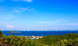 Seascape view in blue sky day at Koh Larn, Pattaya Stock Photo