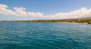 Seascape view of the coast of tropical island royalty free stock photos