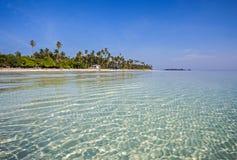 Seascape View of Maratua, Derawan, Indonesia. Beautiful view of Maratua Seascape in Derawan Islands, Berau, Indonesia Royalty Free Stock Photos