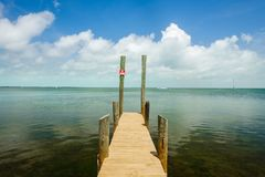 Florida Keys seascape. Seascape view of the popular Florida Keys along a small dock royalty free stock images