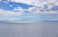 Seascape. View on the sea with a cloudy blue sky Royalty Free Stock Image