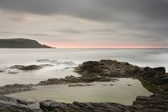 Seascape, View to Stepper Point, Cornwall. Royalty Free Stock Photo