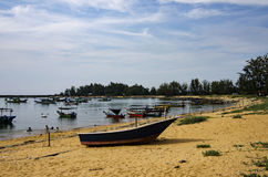 Seascape view of Traditional fisherman village Royalty Free Stock Photography