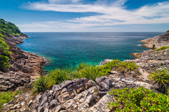 Seascape from viewpoint at Tachai island Royalty Free Stock Photos