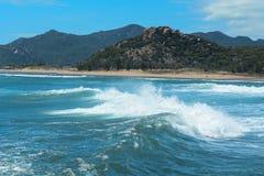 Seascape w Phan Dzwonił, Wietnam Zdjęcia Royalty Free