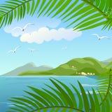 Seascape w zwrotnikach Zdjęcia Stock
