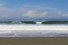 Seascape. Waves crashing on the beach at Osa Peninsula Costa Rica Stock Images