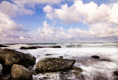 Seascape and waves, natural. Thailand Stock Photography