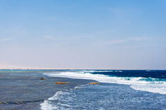 Seascape with waves Royalty Free Stock Photo