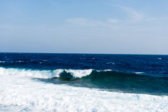 Seascape with waves Royalty Free Stock Image