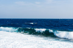 Seascape with waves Stock Photography