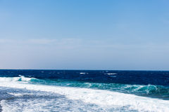 Seascape with waves Royalty Free Stock Photos