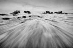 Seascape with waves and rocks. Stock Photography
